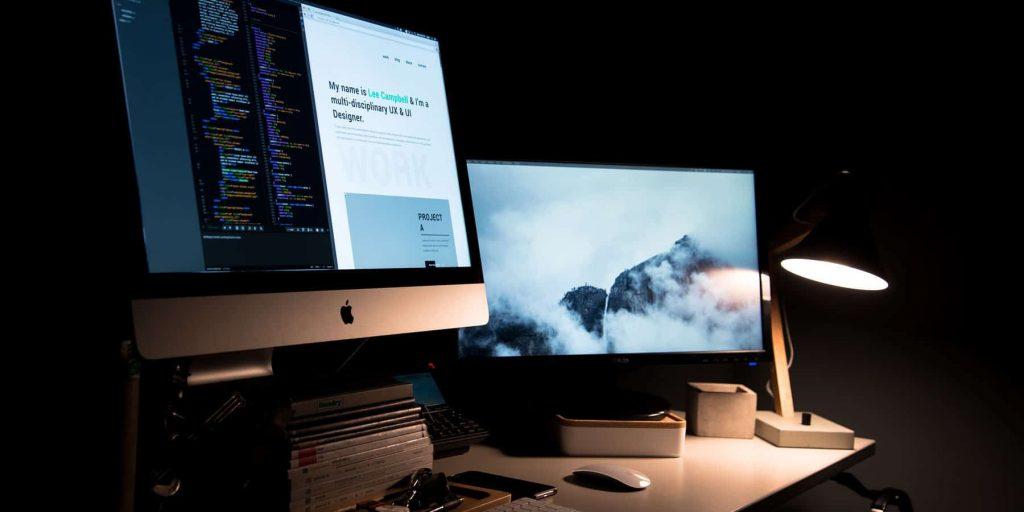 le bureau d'un développeur